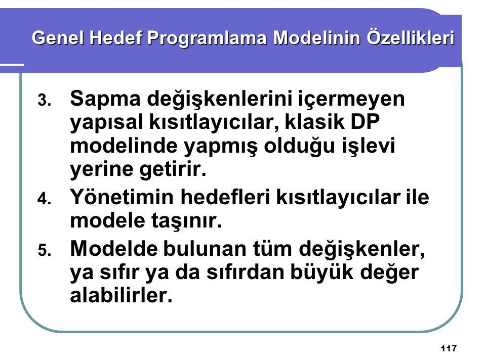 117 Genel Hedef Programlama Modelinin Özellikleri 3.