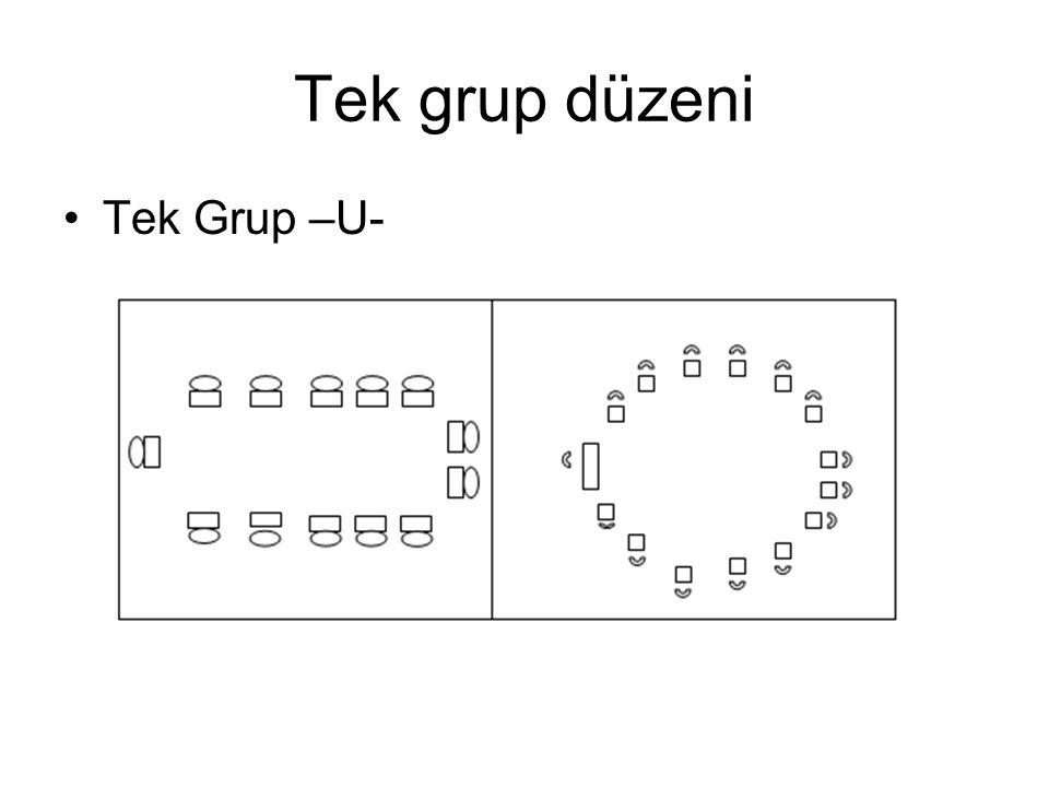 Tek grup düzeni •Tek Grup –U-