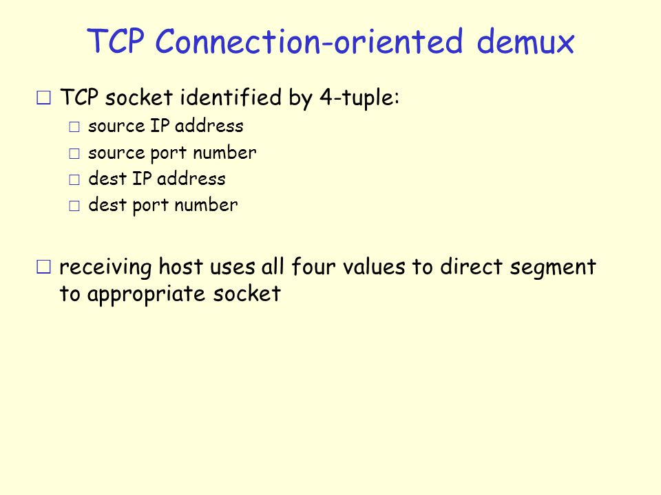 How to program using the TCP.