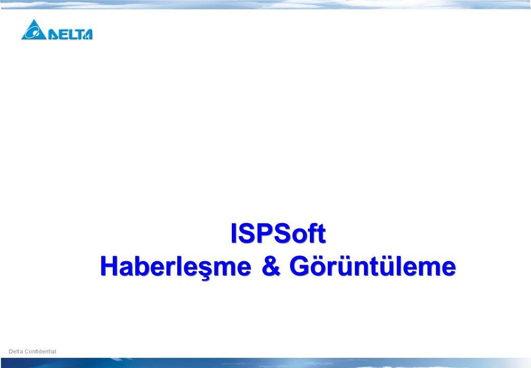 ISPSoft Haberleşme & Görüntüleme ISPSoft Haberleşme & Görüntüleme