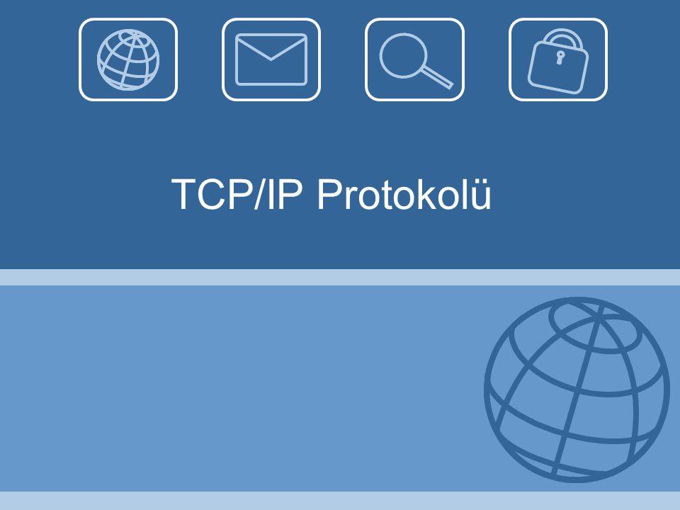 IPConfig Komutu •Tüm ip ile konfigürasyonu (MAC adres vb.) görmek için kullanılır.