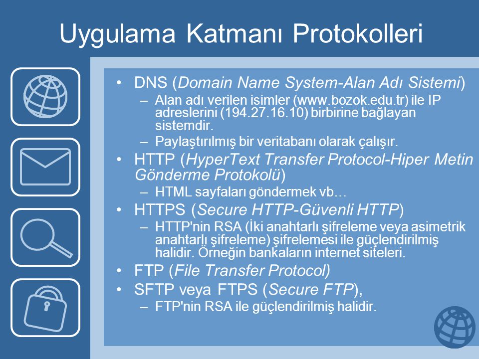 IP Başlığı •Hizmet türü: Host'un ne tür bir hizmet istediği: Hızlı (örneğin ses), hatasız (örneğin dosya) veya güvenli iletim gibi.
