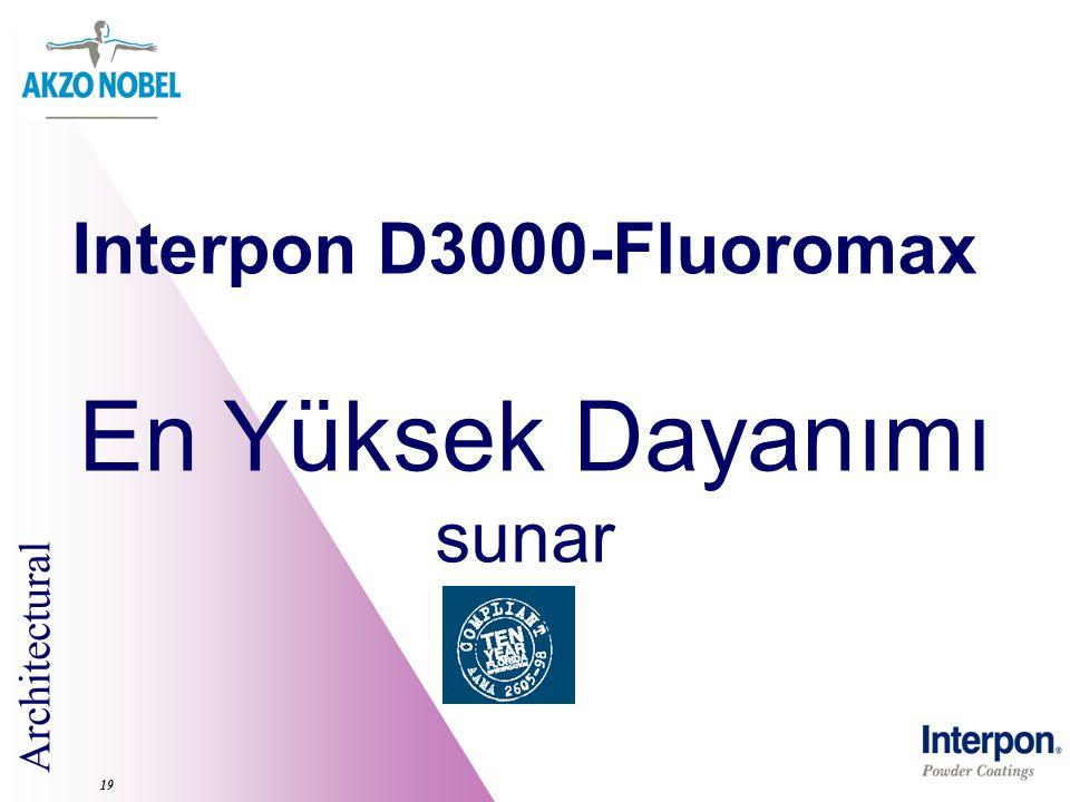 Architectural 19 Interpon D3000-Fluoromax En Yüksek Dayanımı sunar