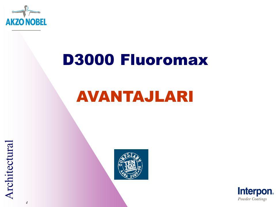Architectural 4 D3000 Fluoromax AVANTAJLARI