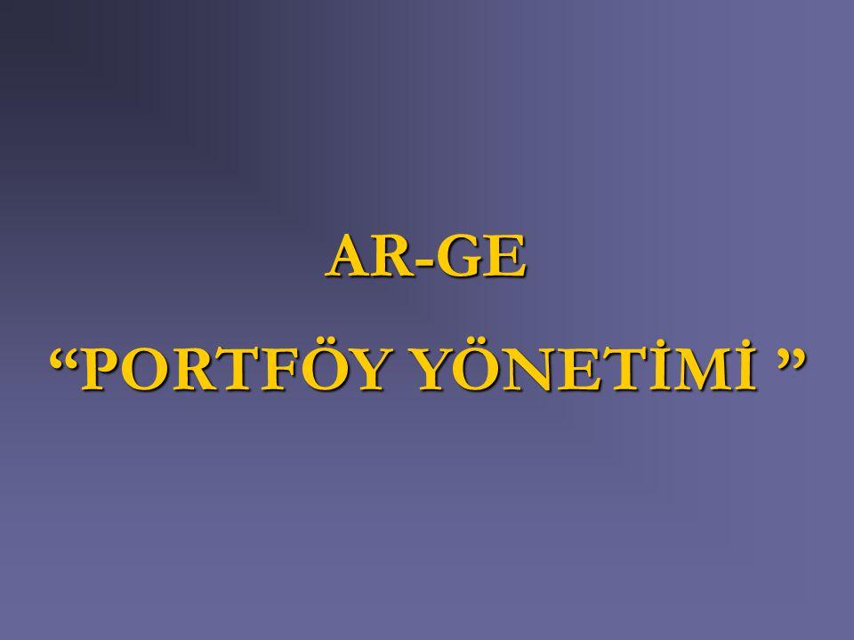 """AR-GE """"PORTFÖY YÖNETİMİ """""""