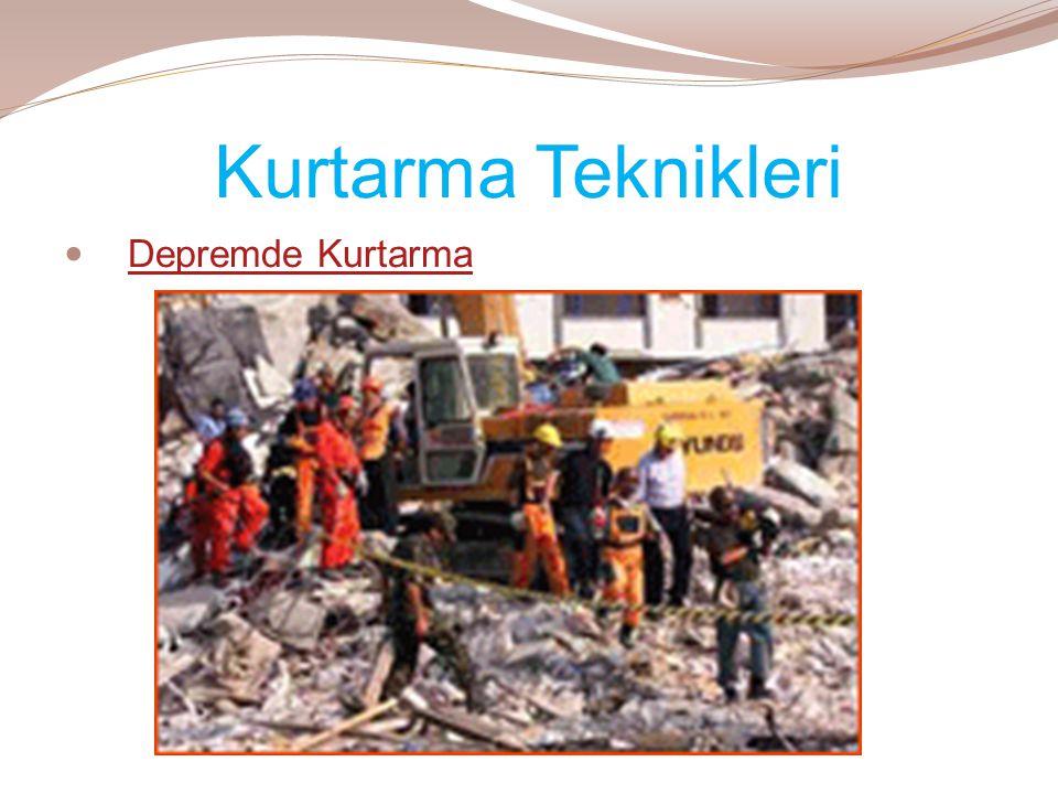 Kurtarma Teknikleri  Depremde KurtarmaDepremde Kurtarma