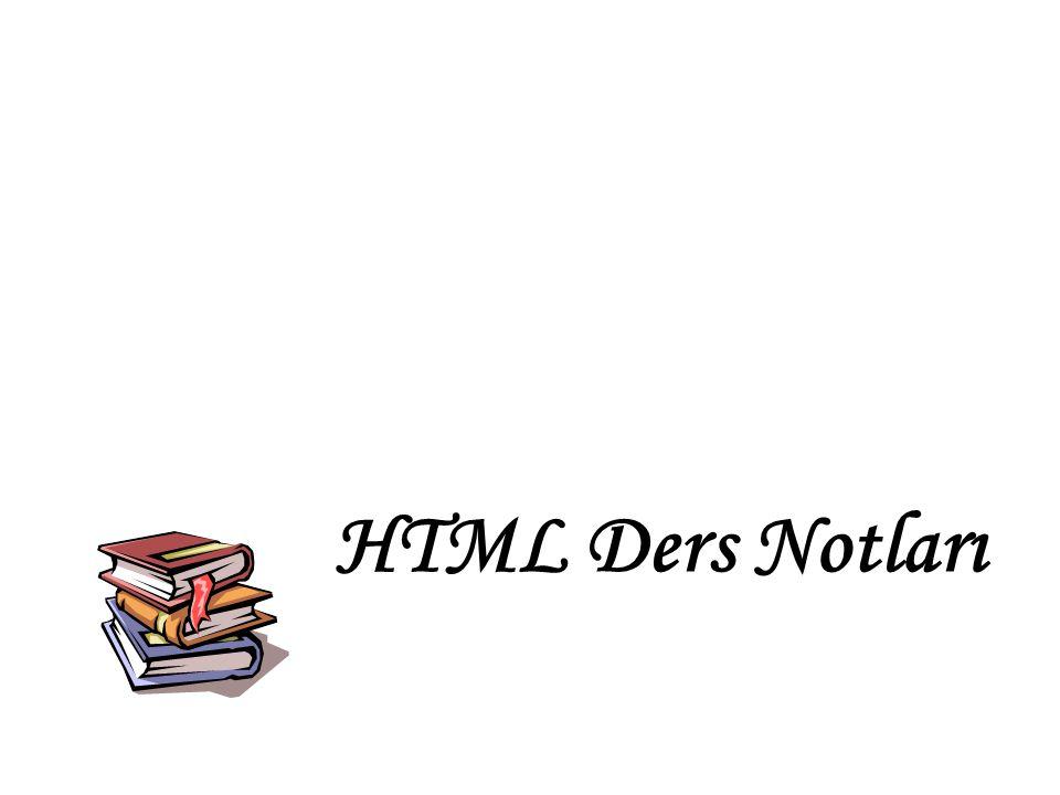 HTML Ders Notları