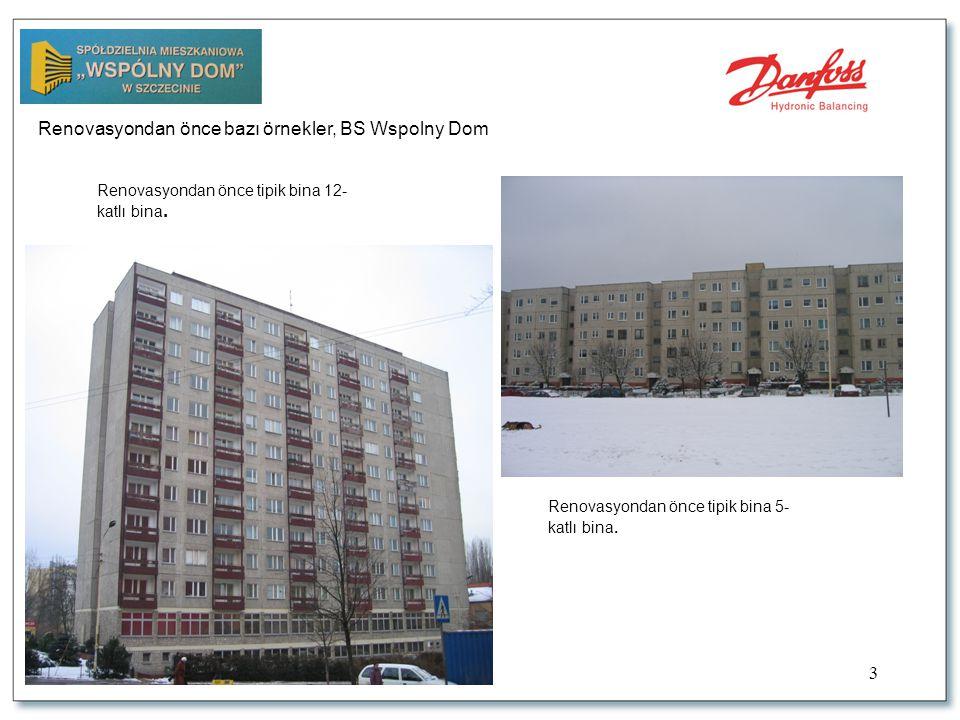 3 Renovasyondan önce bazı örnekler, BS Wspolny Dom Renovasyondan önce tipik bina 5- katlı bina.