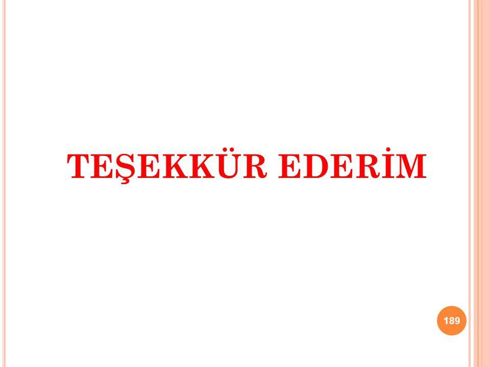 TEŞEKKÜR EDERİM 189