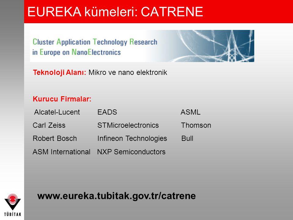 EUREKA kümeleri: CATRENE Teknoloji Alanı: Mikro ve nano elektronik Kurucu Firmalar: Alcatel-Lucent EADS ASML Carl Zeiss STMicroelectronics Thomson Rob