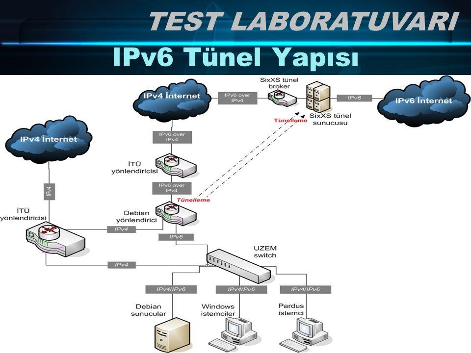 33/ 78 IPv6 Tünel Yapısı TEST LABORATUVARI