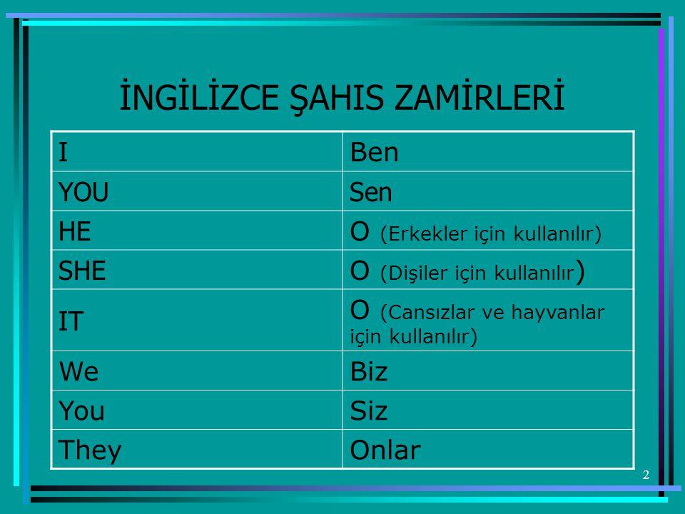 13 Examples - Örnekler : Singular -TekilPlural-Çoğul a book - (bir) kitapbooks -kitaplar a pen pens a pencil pencils a boyboys a girlgirls