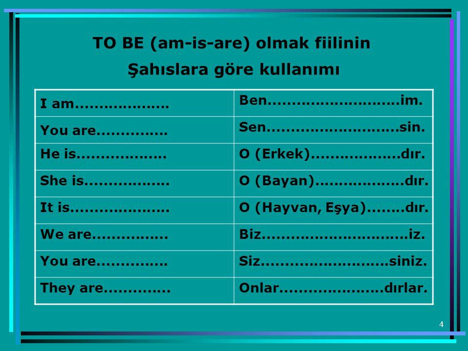 45 Examples - Örnekler : 1) A Spanish girl Mehmet is Turkish.