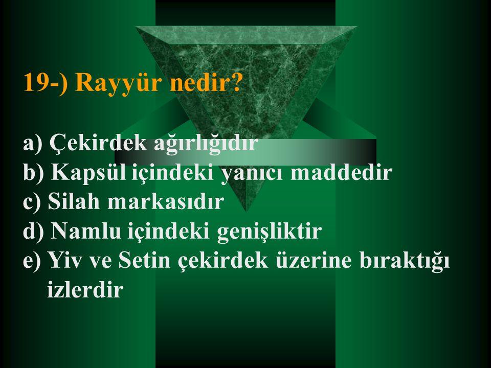 19-) Rayyür nedir.