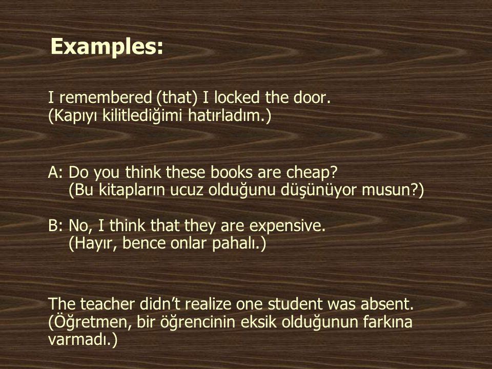 Devam… We should study for the test.