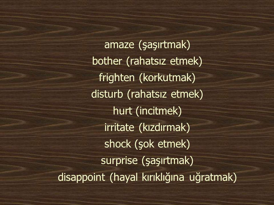 Devam… Progressive forms working Mehmet: I m working in the garden. was working Mehmet said that he was working in the garden.