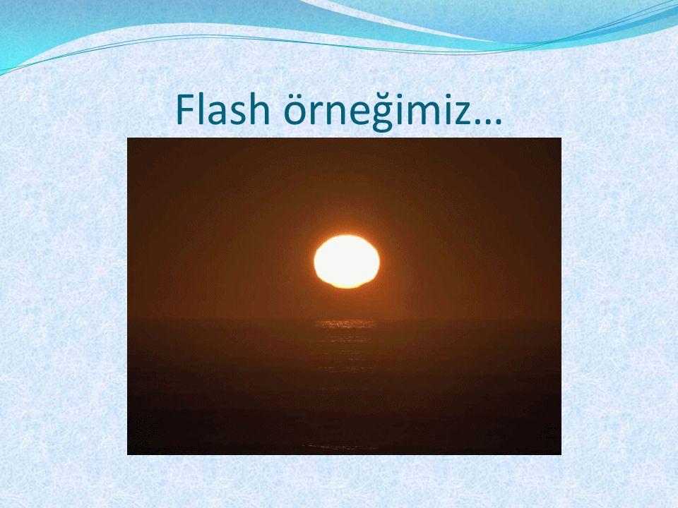 Flash örneğimiz…