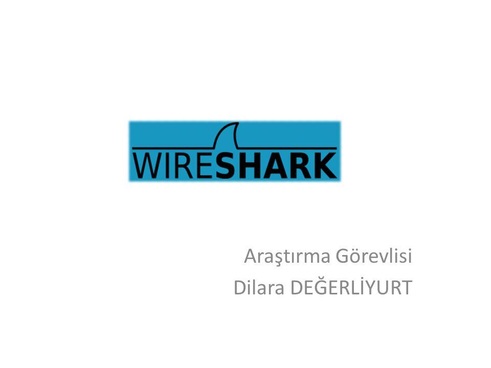 WIRESHARK • Bilgisayara ulaşan paketleri yakalamaya ve bu paketlerin içeriğini görüntülemeye imkan tanır.