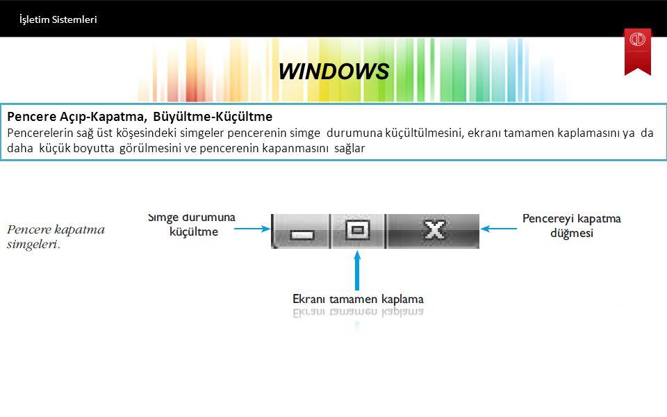 WINDOWS İşletim Sistemleri Klasörler Arası Gezinme