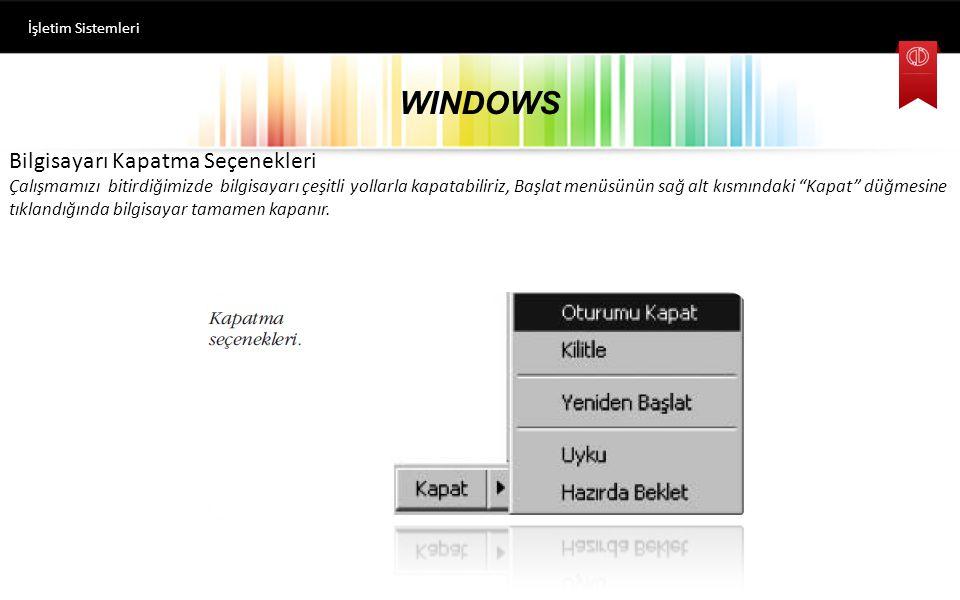 WINDOWS İşletim Sistemleri Program Kaldırma-Silme Kurulan tüm programlar Denetim Masası-Programlar ve Özellikler seçeneği seçildiğinde gelen pencerede