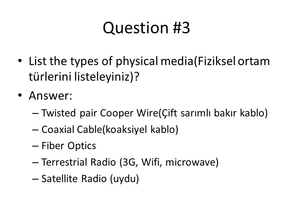 Question 13 • Consider that only a single TCP connection uses one 10Mbps link which does not buffer any data.