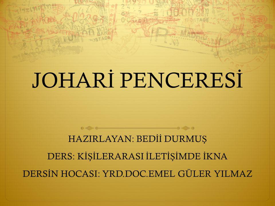 JOHAR İ PENCERES İ NED İ R.