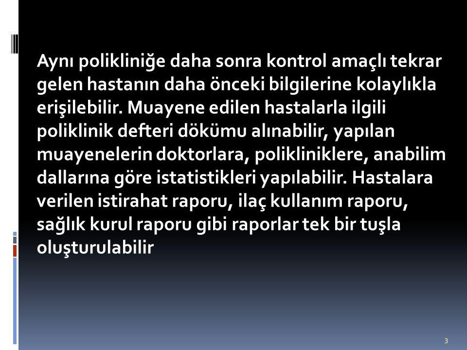 A.GENEL İŞLEMLER 1.