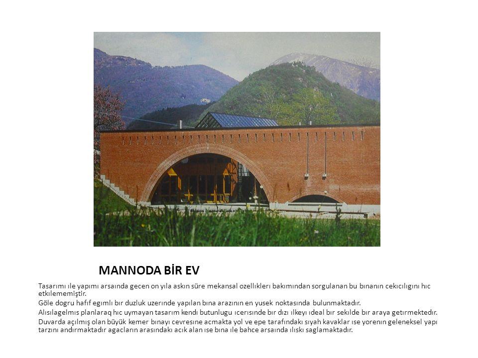 MANNODA BİR EV Tasarımı ıle yapımı arsaında gecen on yıla askın süre mekansal ozellıklerı bakımından sorgulanan bu bınanın cekıcılıgını hıc etkılememi