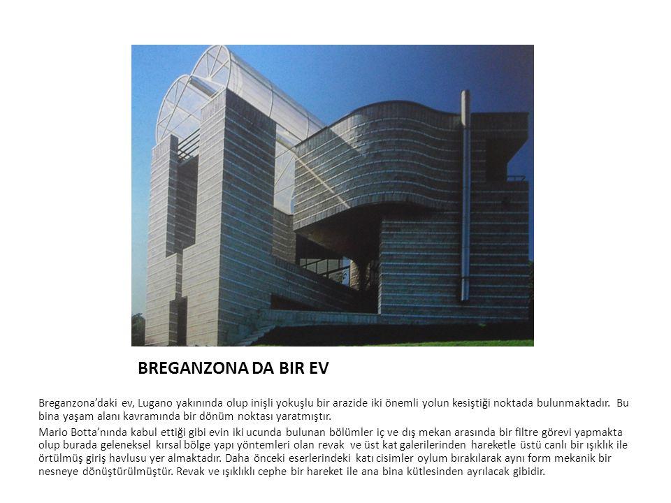 BREGANZONA DA BIR EV Breganzona'daki ev, Lugano yakınında olup inişli yokuşlu bir arazide iki önemli yolun kesiştiği noktada bulunmaktadır. Bu bina ya