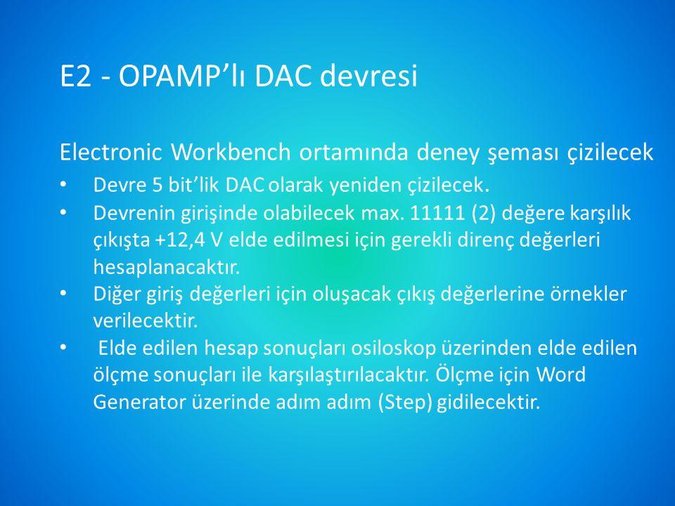 OPAMP'lı entegral alma 10 k  0,1  F 1 M 