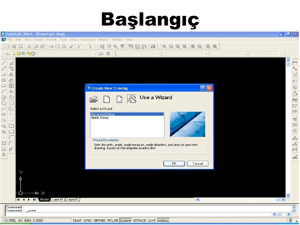 Ekranı Klasik AUTOCAD Ekranı Haline Getirmek