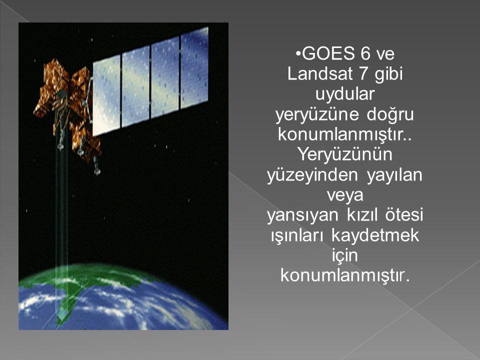 •GOES 6 ve Landsat 7 gibi uydular yeryüzüne doğru konumlanmıştır..