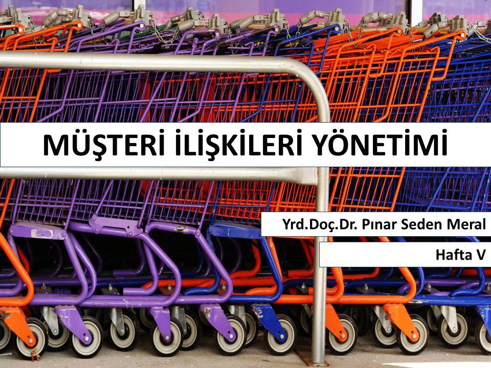 MÜŞTERİ İLİŞKİLERİ YÖNETİMİ Yrd.Doç.Dr. Pınar Seden Meral Hafta V