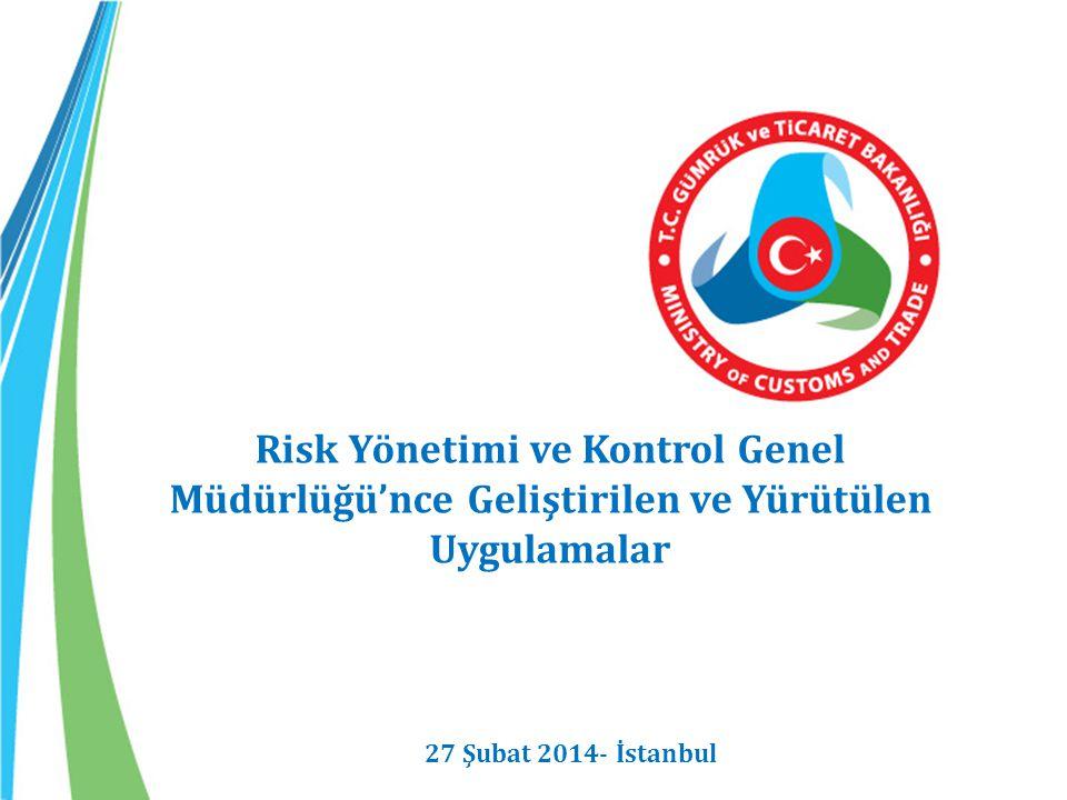 Risk Yönetimi ve Kontrol Genel Müdürlüğü'nce Geliştirilen ve Yürütülen Uygulamalar 27 Şubat 2014- İstanbul