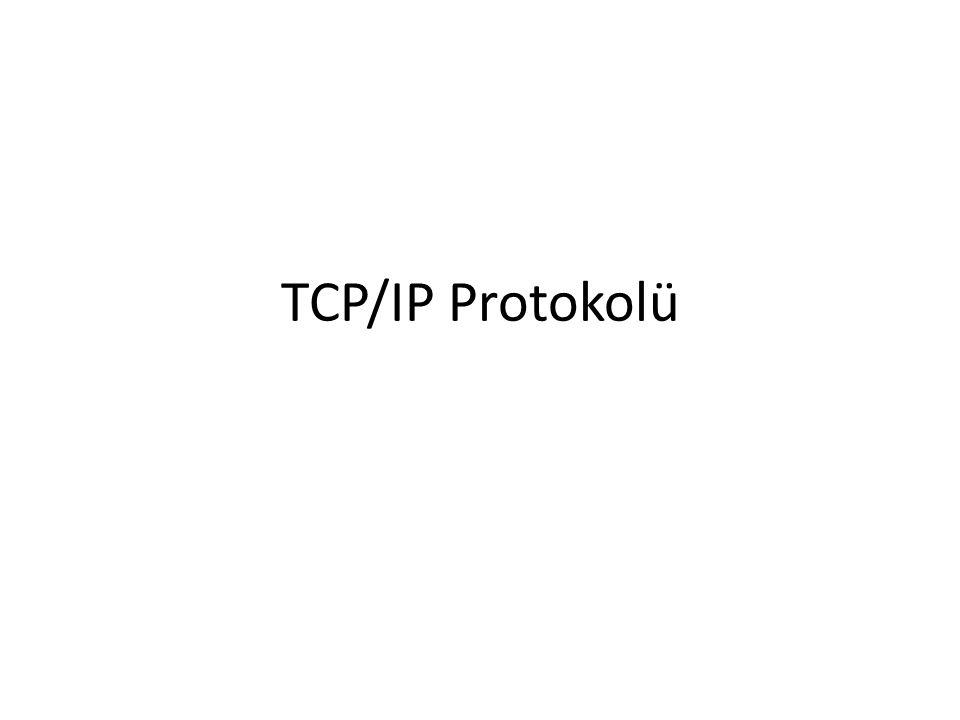 Fiziksel Katman Protokolleri • ARP (Address Resolution Protocol: Adres Çözümleme Protokolü) – IP adresinin MAC adresine dönüşümünü sağlar.