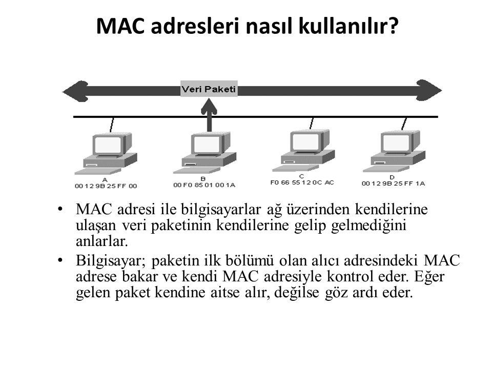 MAC adresleri nasıl kullanılır.