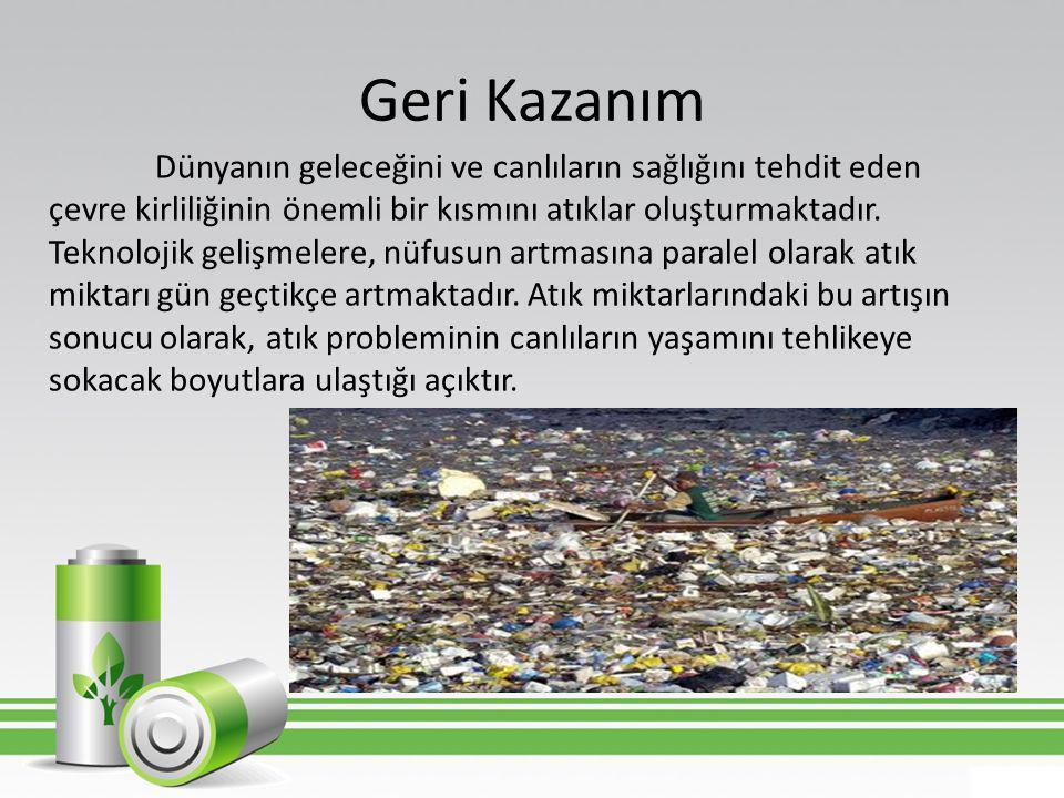 Plastiklerin Geri Kazanımı • Geri Kazanılabilir Plastikler  Numaralandırılmış Plastikler • Geri Kazanılamaz Plastikler  Köpükler  PVC Pipetler  Oyuncaklar  Numaralandırılmamış Plastikler
