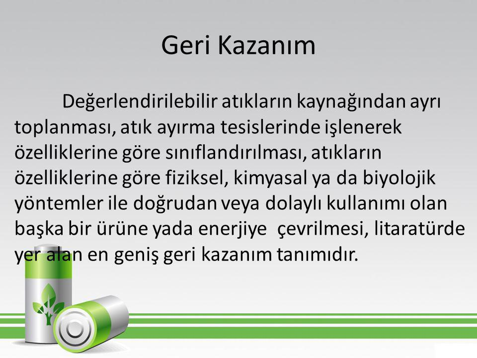 Kaynaklar • Uçaroğlu, S., 2002.