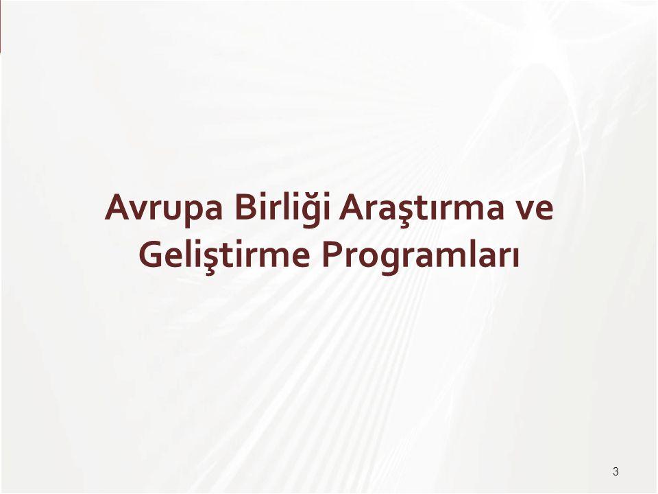TÜBİTAK Avrupa Birliği Araştırma ve Geliştirme Programları 3
