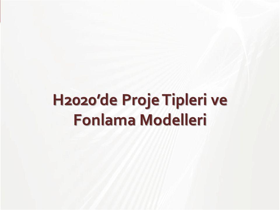 TÜBİTAK H2020'de Proje Tipleri ve Fonlama Modelleri