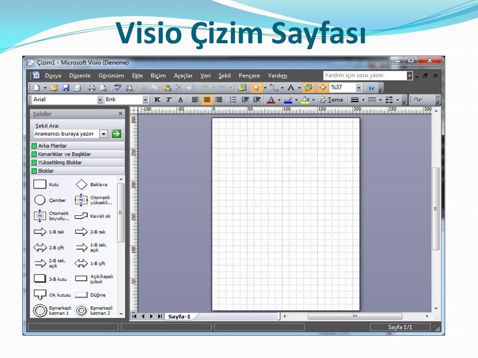 Visio Çizim Sayfası