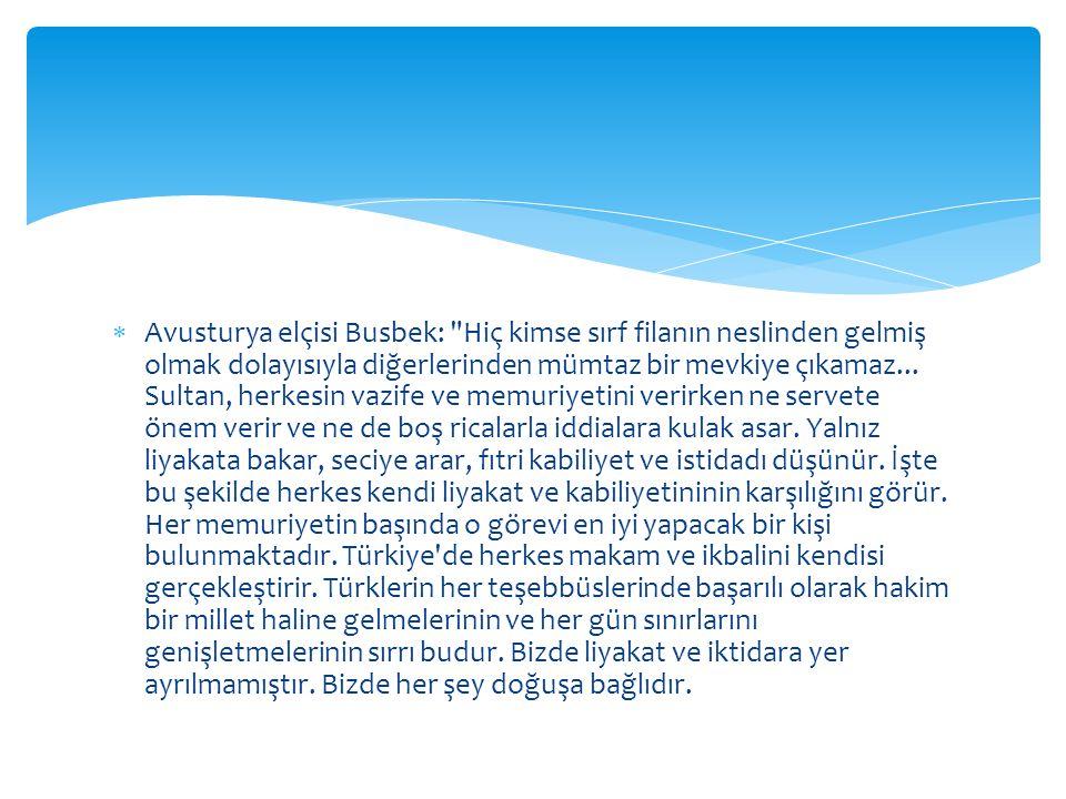  Avusturya elçisi Busbek: