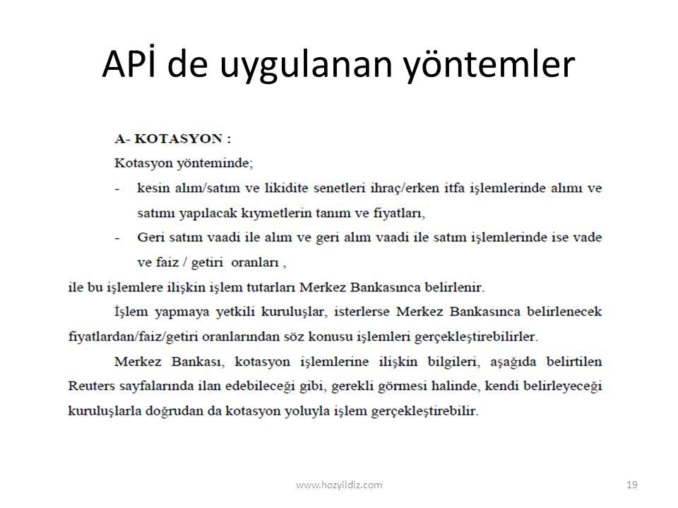 APİ de uygulanan yöntemler www.hozyildiz.com19