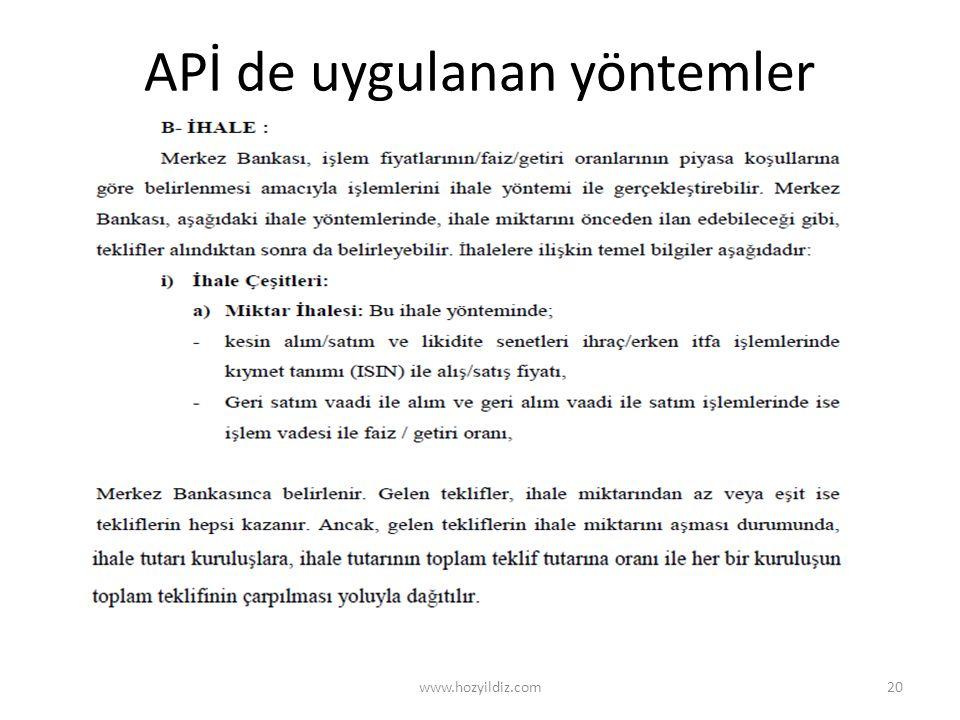 APİ de uygulanan yöntemler www.hozyildiz.com20