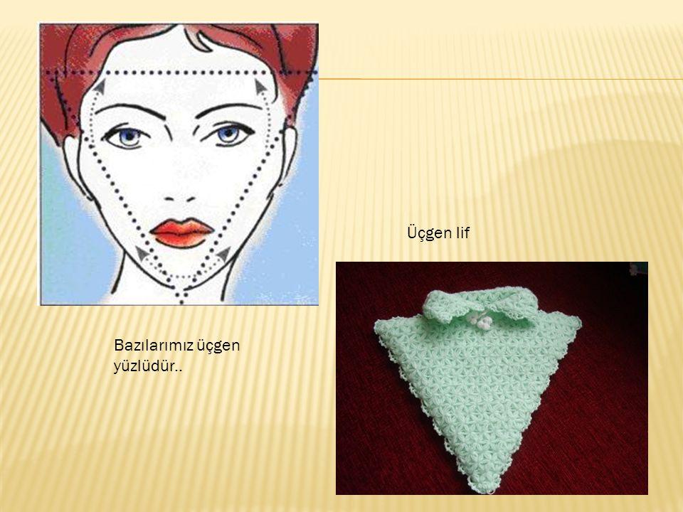 Bazılarımız üçgen yüzlüdür.. Üçgen lif