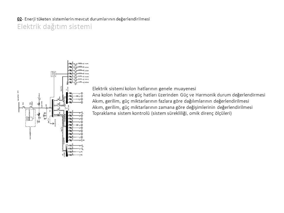 02- Enerji tüketen sistemlerin mevcut durumlarının değerlendirilmesi Elektrik dağıtım sistemi Elektrik sistemi kolon hatlarının genele muayenesi Ana k