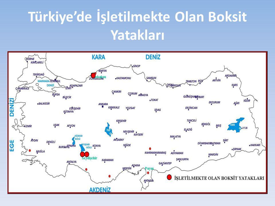 Türkiye'de İşletilmekte Olan Boksit Yatakları
