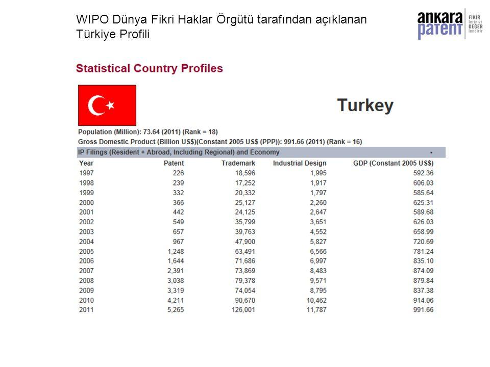 WIPO Dünya Fikri Haklar Örgütü tarafından açıklanan Türkiye Profili