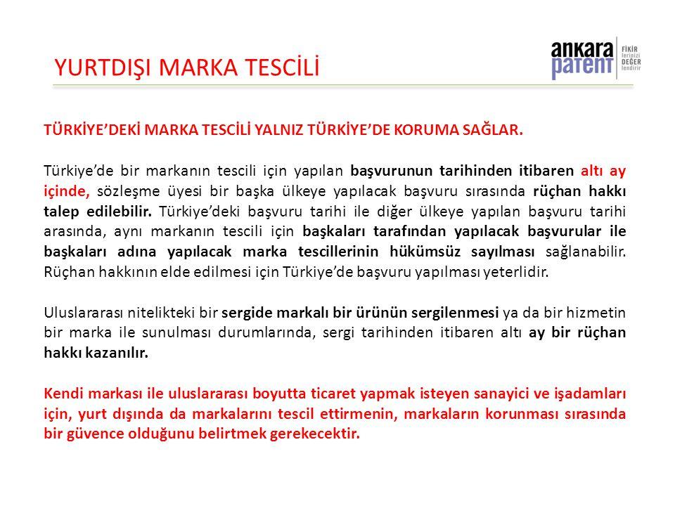 YURTDIŞI MARKA TESCİLİ TÜRKİYE'DEKİ MARKA TESCİLİ YALNIZ TÜRKİYE'DE KORUMA SAĞLAR. Türkiye'de bir markanın tescili için yapılan başvurunun tarihinden