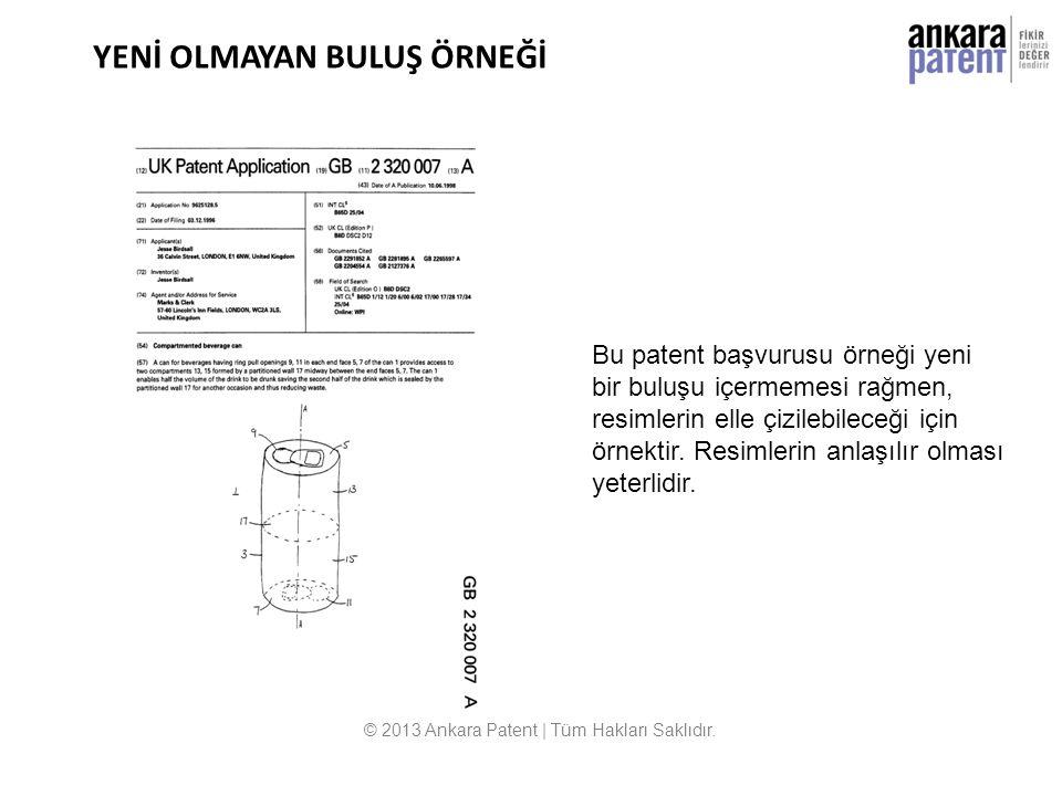YENİ OLMAYAN BULUŞ ÖRNEĞİ © 2013 Ankara Patent | Tüm Hakları Saklıdır. Bu patent başvurusu örneği yeni bir buluşu içermemesi rağmen, resimlerin elle ç
